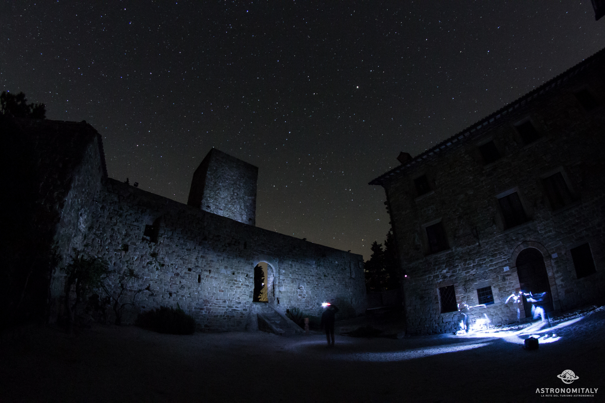 Il cielo stellato del Castello di Petroia