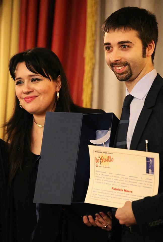 Fabrizio Marra di Astronomitaly con Il Premio Il Sognatore