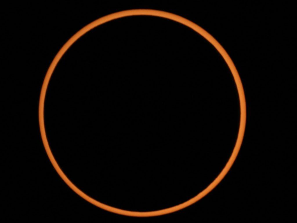 Esempio di eclissi solare anulare - 26 Dicembre 2019 dalla Malesia
