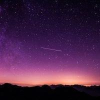 Cielo stellato tramonto