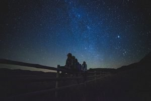 Cielo stellato buio