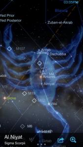mappa stellare app smartphone