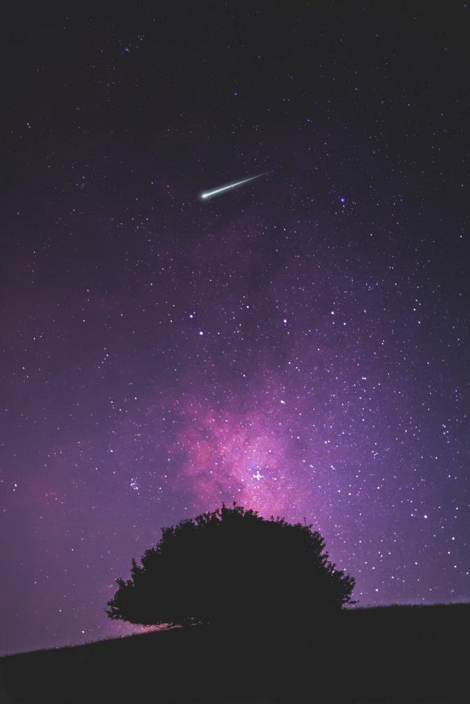 stella cadente cielo