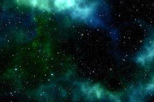 stelle nebulosa verde blu