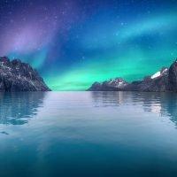 norvegia-aurora boreale mare