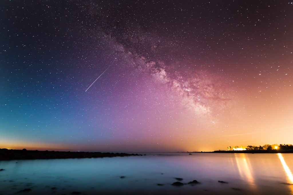 stella cadente cielo mare