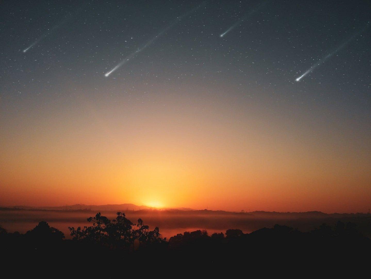 stelle cadenti tramonto