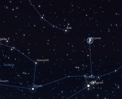 pleiadi costellazioni stelle