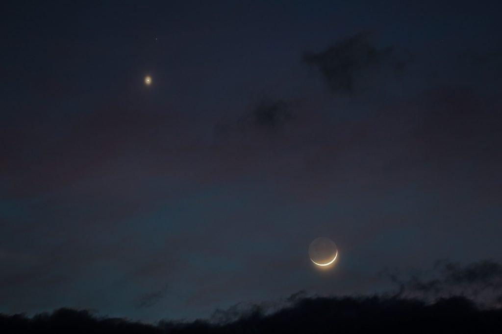 congiunzione luna venere