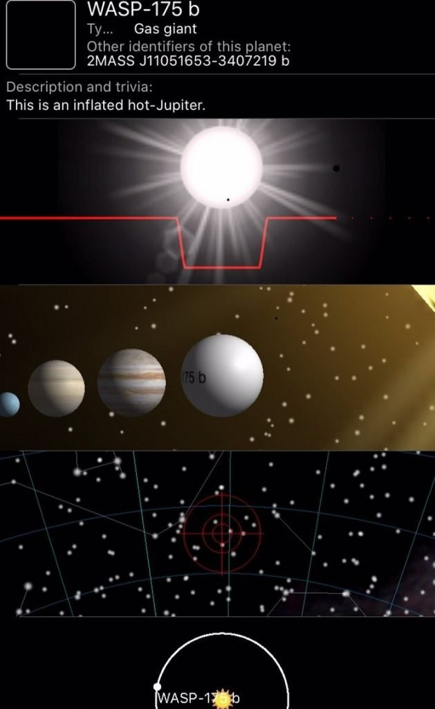 App di astronomia Exoplanet
