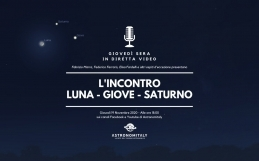 L'Incontro Luna – Giove – Saturno In Diretta Video
