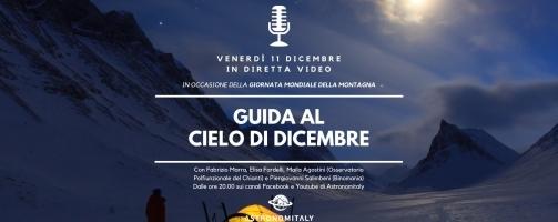 Guida al Cielo di Dicembre in Diretta Video