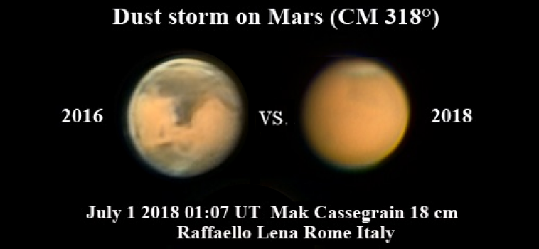 Una colossale tempesta di sabbia ha cambiato l'aspetto di Marte