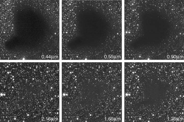 La Nebulosa Oscura Barnard 68 all'Infrarosso