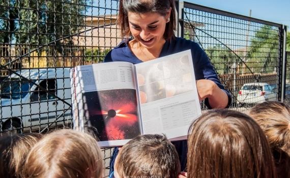 Astronomitaly - Osservazione del Sole nelle scuole per la Notte Europea dei Ricercatori