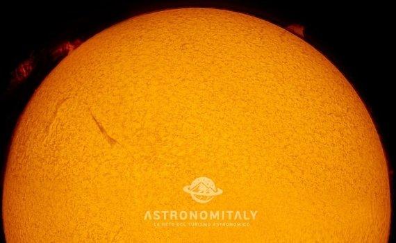 Il Sole dal Telescopio