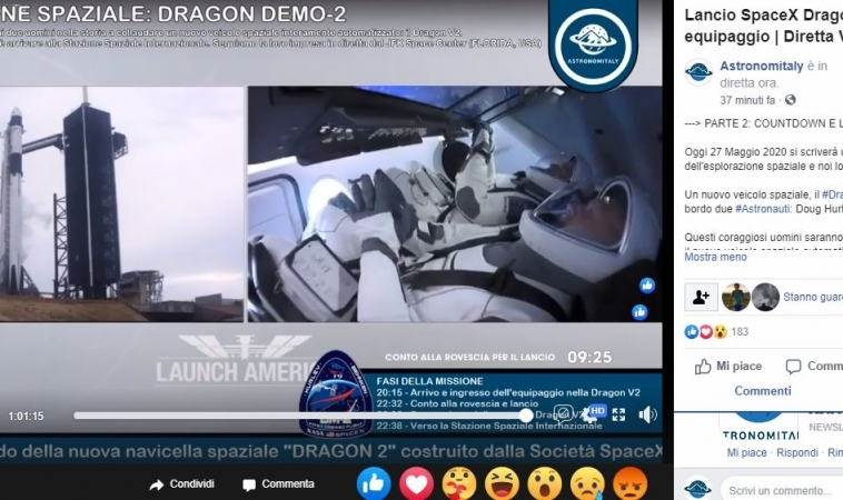 Lancio SpaceX rinviato: causa maltempo, per la Crew Dragon nuovo tentativo sabato